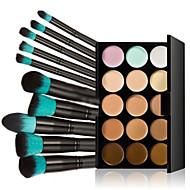 15 CorretivoPincéis de Maquiagem Molhado Olhos / Rosto / Lábios / pescoço / mãosCobertura / Longa Duração / Peles com Manchas /