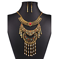 MISSING U Women Vintage / Party Silver Plated / Alloy / Rhinestone / Resin Necklace / Earrings Jewelry Sets