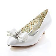 Women's Spring / Summer / Fall Heels / Round Toe Silk Wedding / Dress / Party & Evening Low Heel CrystalBlack / Pink / Purple / Red /