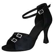 Non Customizable Women's Dance Shoes Satin Satin Latin / Salsa / Samba / Swing Shoes Sandals / Heels Stiletto HeelPractice / Beginner /