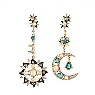 MISSING U Cute / Party Alloy / Gemstone & Crystal / Cubic Zirconia Drop Earrings