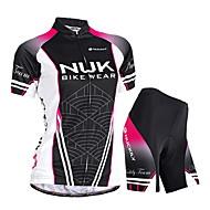 Nuckily Şortlu Bisiklet Forması Kadın's Kısa Kollu Bisiklet Pedli Şortlar Forma Şort Giysi SetleriSu Geçirmez Ultravioleye Karşı