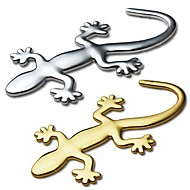 ZIQIAO 3D Pure Metal Gecko Stickers Personality Sticker Car Decoration