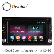 Universeel Auto DVD-speler Android4.4 2Din 6.2 inch 800 x 480Built-in Blauwtooth/GPS/Rds/3D-interface/Stuur Control/3G (WCDMA)/Wifi/Subwoofer