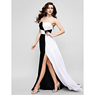 TS Couture Formal Evening Dress - Multi-color A-line Strapless Sweep/Brush Train Chiffon