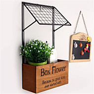 moda prateleira decorativos artesanato produtos de armazenamento de madeira da cozinha prateleira de flor de parede