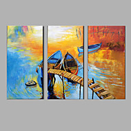 Oil Painting Modern Abstract Pure Hand Draw Ready To Hang Decorative  Set Of 3 Pieces The Scenery