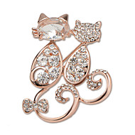 Luxury Brooch Hight Quality Cat Diamond Brooches Pins Wedding Jewelry Badges with Pin X30006