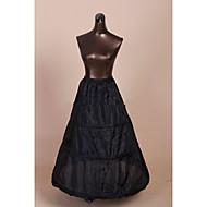 Slips A-Line Slip Ball Gown Slip Tea-Length 1 Tulle Netting Polyester Black