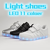 Boys' Shoes Outdoor light 11 color sport USB verlco  Casual  Fashion Sneakers Black / White / Silver