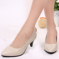 Women's Spring / Summer / Fall Heels Leatherette Outdoor / Office & Career / Casual Cone Heel Black / Blue / Beige