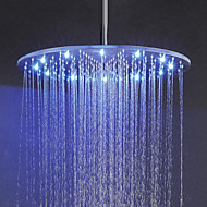 20 Inch Rainfall Bathroom Shower Head, 3 Colors(Blue, Green, Red) Temperature Sensitive LED Top Shower