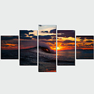 Canvas Set Landschap Modern Traditioneel,Vijf panelen Horizontaal Print Art Muurdecoratie For Huisdecoratie