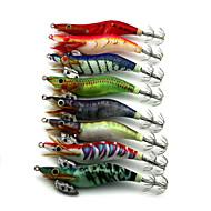 8pcs 100mm 11g Fishing Bait Luminous Shrimp Lure Random Color