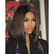 2016 nuevo diseño de primer aspecto natural del frente del cordón pelucas ciara parte media pelucas largo bob afrodable para las mujeres