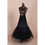 Slips Mermaid and Trumpet Gown Slip Floor-length 3 Tulle Netting Polyester Black