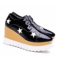 Women's Shoes Patent Leather Platform Creepers Heels Office & Career / Party & Evening / Dress / Casual Black / Red