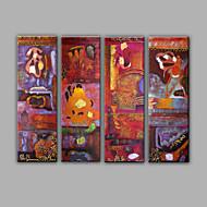 Hånd-malede Fantasi Horisontal,Middelhavet Fire Paneler KanvasHjem Dekoration
