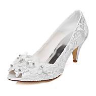 סנדלים - נשים - נעלי חתונה - נעלים עם פתח קדמי - חתונה / שמלה / מסיבה וערב - שנהב