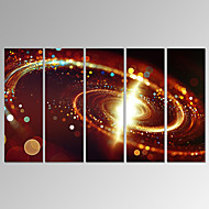 VISUAL STAR®5 Panel Abstract Universe Canvas Wall Art Modern Space Canvas Print Ready to Hang