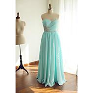 Formal Evening Dress - Lime Green Ball Gown Sweetheart Floor-length Chiffon