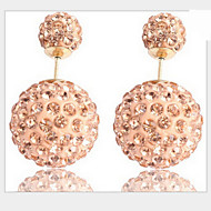 Lucky Doll Women's All Match Silver Plated Zirconia Earring
