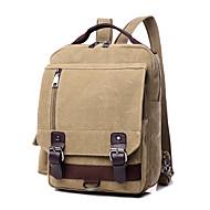 Unisex PU  Canvas Bucket Shoulder Bag Tote  Satchel  Backpack  Sports  Leisure Laptop  School Bag Blue  Brown  Gray