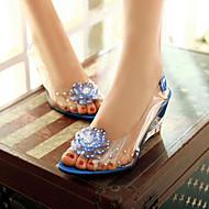 Women's Shoes Heel Wedges / Heels / Peep Toe Sandals / Heels Outdoor / Dress / CasualBlack / Blue / Yellow / Red /
