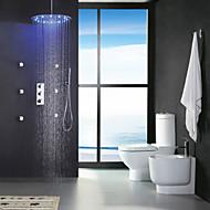 Torneira de Chuveiro - LED / Termostática / Chuveiro Tipo Chuva / Widespary / Chuveiro de Mão Incluído - Latão ( Cromado ) - ESTILO