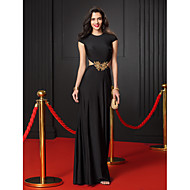 TS Couture® Prom  Formal Evening Dress Trumpet / Mermaid Jewel Floor-length Jersey with Appliques / Beading