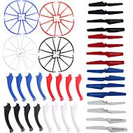 4color / 48 SYMA X5s / x5sw / x5sc reservedele sæt 16 landingsstel + 16 bladet propel + 16 beskytte ring til rc quadrokopter drone