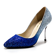 Magassarkú / Hegyes orrú - Stiletto - Női cipő - Magassarkú - Esküvői / Ruha / Party és Estélyi - Szintetikus / Glitter -Kék / Ezüst /