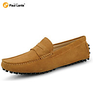 Men's Shoes Casual Suede Loafers Black / Brown / Yellow / Gray / Navy / Burgundy