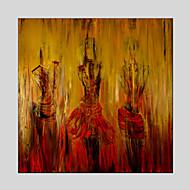 modernas pinturas al óleo de material de lona figura de estilo con marco estirada listo para colgar tamaño: 70 * 70 cm.