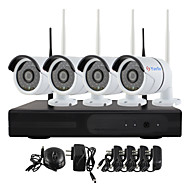 YanSe® Plug and Play Wireless NVR Kit P2P 720P HD Outdoor/Indoor IR Night Vision Security IP Camera WIFI CCTV System