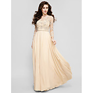 TS Couture® Prom / Formal Evening Dress - Champagne Plus Sizes / Petite A-line Jewel Floor-length Chiffon
