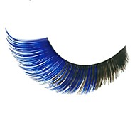 Stage Artistic Exaggeration Handmade Extended Blue Medium length Swallow Tail  False Eyelashes  For Party Halloween