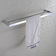 HPB®,Towel Bar Chrome Wall Mounted 60*12cm(23.6*4.7 inch) Brass Contemporary