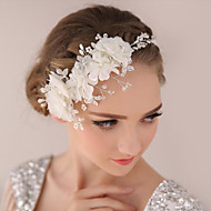 Graceful Rhinestone / Crystal / Alloy / Imitation Pearl / Organza / Fabric Headpiece-Wedding / Special Occasion Flowers