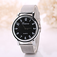 Women/Men White Case Steel Silver Band Watch Jewelry for Wedding Party