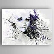 Maalattu Ihmiset Abstraktit muotokuvatModerni 1 paneeli Kanvas Hang-Painted öljymaalaus For Kodinsisustus