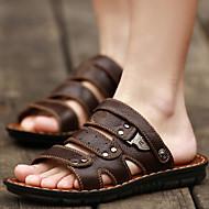 Sandály - Černá / Tmavošedá - Pánské boty - Outdoor / Běžné / Atletika - Nappa Leather