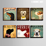 E-HOME® Stretched Canvas Art  Dog Series Decoration Painting MINI SIZE One Pcs