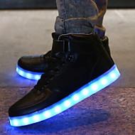 נעלי נשים - סניקרס אופנתיים - סינטתי - נוחות - לבן - שטח / קז'ואל / ספורט / מסיבה וערב / Work & Duty - עקב שטוח