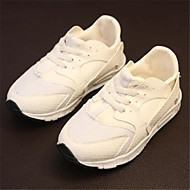 Girls' Shoes Outdoor / Casual Pointed Toe Faux Leather Fashion Sneakers Black / White