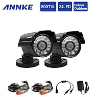 annke® 2 개 800tvl 적외선 24ir 960h 홈 보안 감시 CCTV 카메라를 잘라