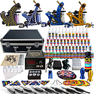 solong tattoo compleet tattoo kit pro 4 machines 54 inkten voeding voetpedaal naalden grips tips tk453