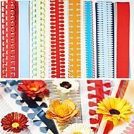 40pcs 51cm multi-vormen quilling papier zetten verschillende bloemblaadje creatieve diy origami-papier rollen (5pcsx8 set)