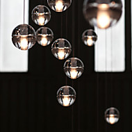Creative Restaurant Engineering Stage Led Meteor Shower Crystal Ball Pendant Light Lamp LED(1pc)