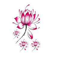 Halloween 1PCS Lotus FlowerWaterproof  Tattoo Stickers
